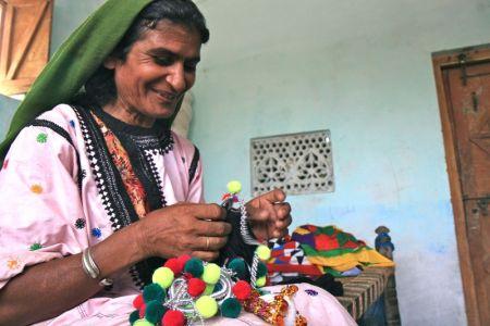 Manghi at work. Photo: Jane Beesley/Oxfam